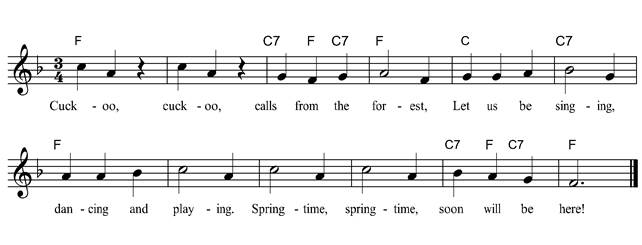 Perfect A German Song To Welcome The Spring.